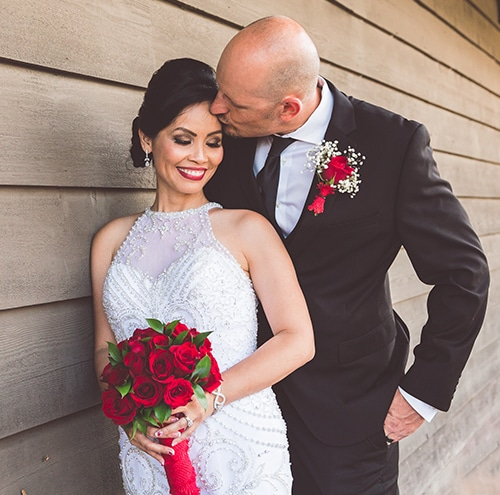 san diego wedding photography black and red