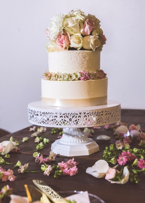 wedding photography cake detail